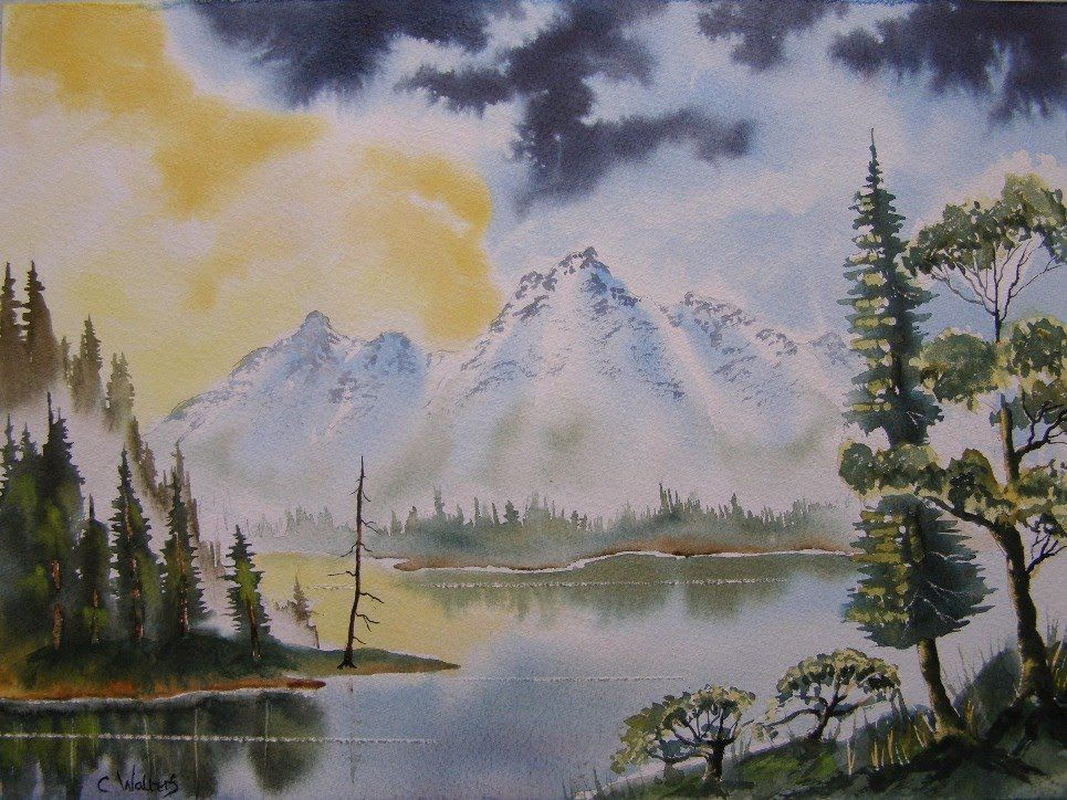 Paint Watercolours With Colin Walters Mountain Lake Painting