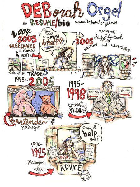 illustrated   comic book resume