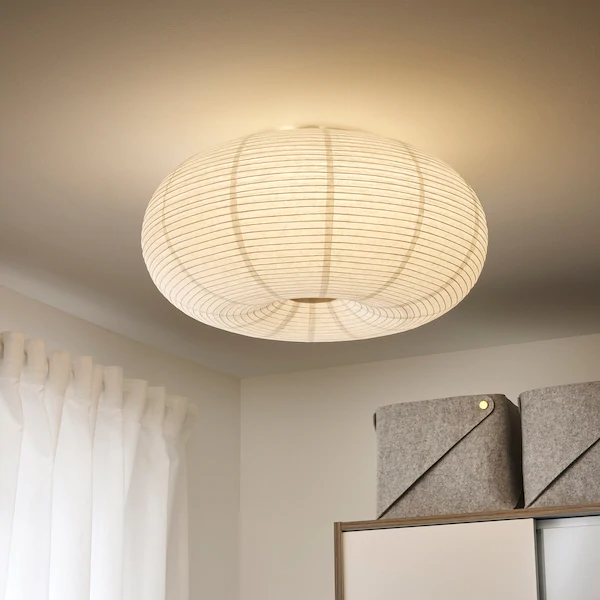 Risbyn Led Stropna Lampa Biela 50 Cm Ikea In 2020 Ceiling Lamp White Led Ceiling Lamp Ceiling Lamp