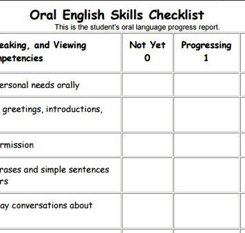 Assessment Instruction  Understanding An Oral Language Skills
