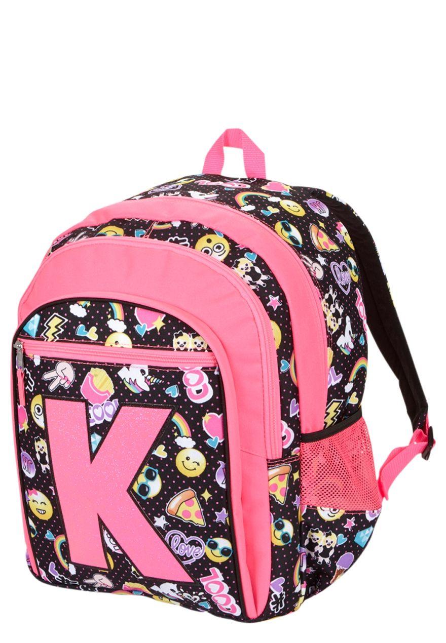 Justice Aztec Backpack Girls Green Purple Pink Bookbag New School