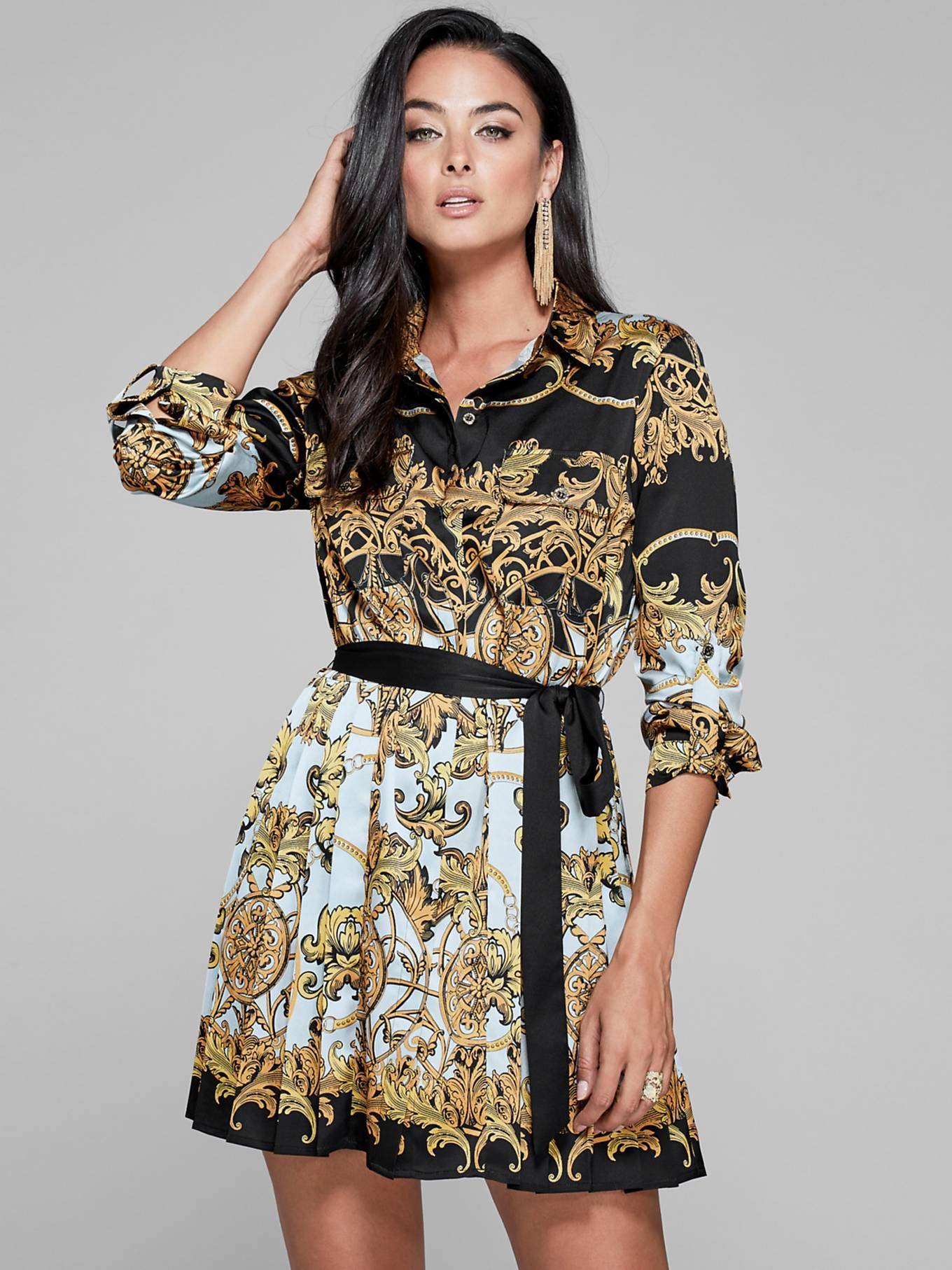 MARCIANO DRESS WITH BAROQUE PRINT  31e2394d6f
