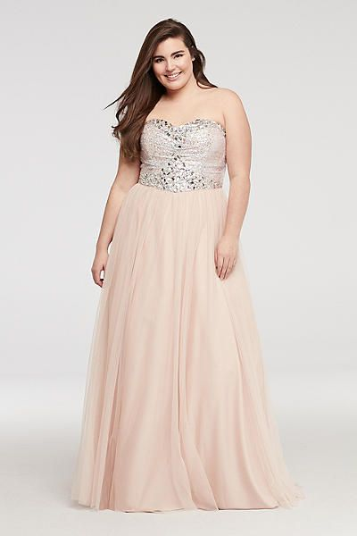 Plus Size Prom Dresses for Prom 2015 - David\'s Bridal | Wedding ...