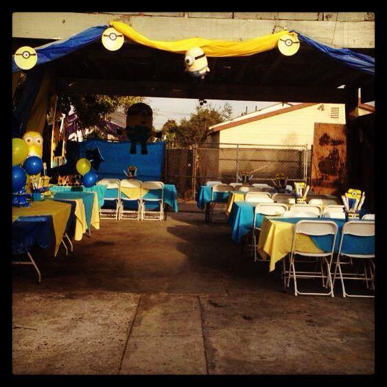 Fiesta minions manteles diamantes sillas y mesas - Manteles para mesa ...