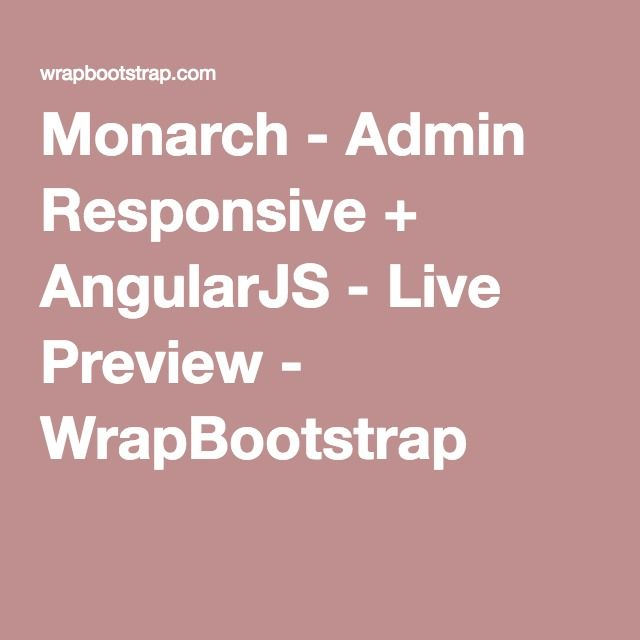 Monarch - Admin Responsive + AngularJS - Live Preview - angularjs resume