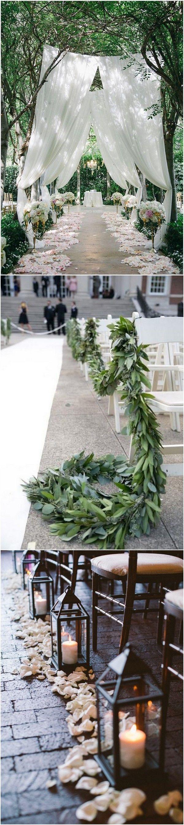 Wedding aisle decor ideas diy   Breathtaking Wedding Aisle Decoration Ideas to Steal  Whimsical