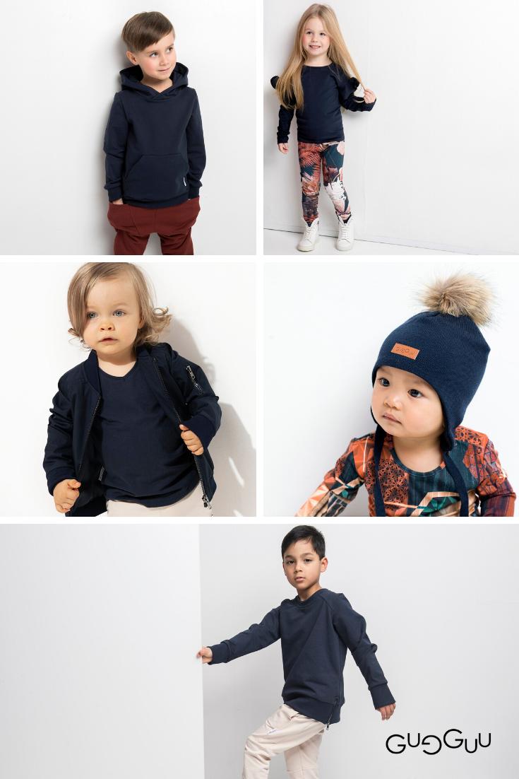 Gugguu Sky Blue Aw19 Dark Sky Blue Toned Sustainable Kids Fashion In 2020 Kids Fashion Kids Outfits Kids Clothing Brands