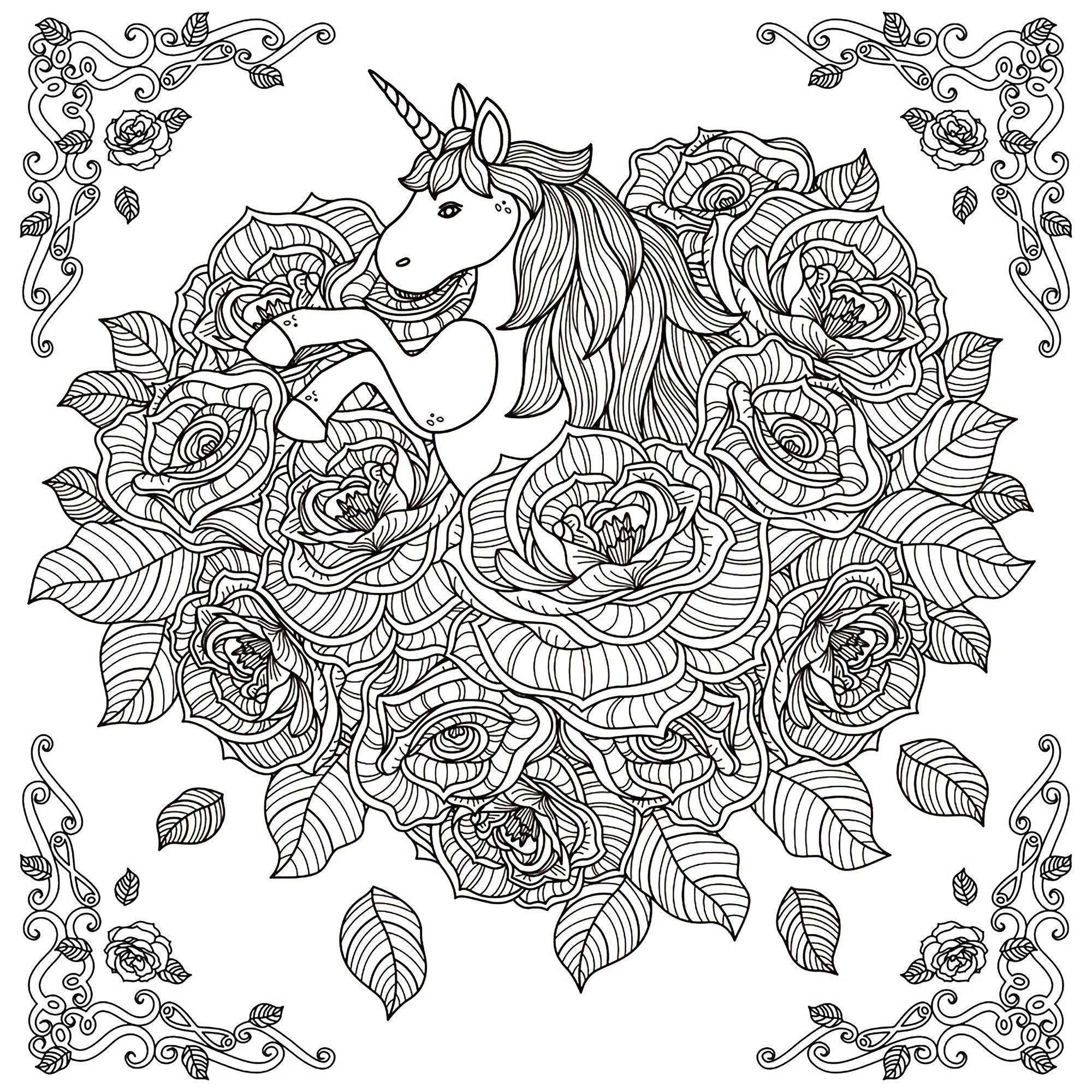 Coloriage Mandala Licorne A Imprimer Licorne Mandala Par Kchunga