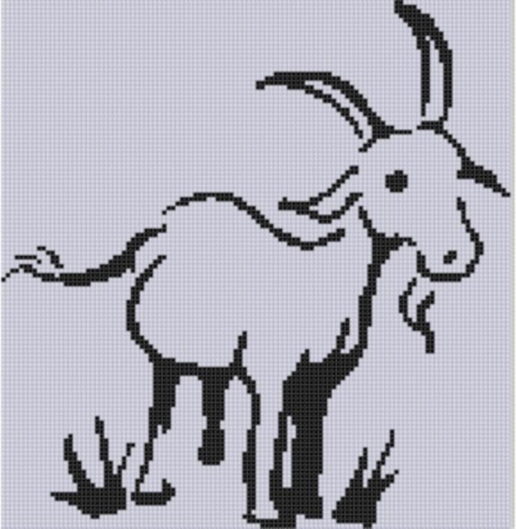 Mama Goat /& Kids ~ Barnyard Animals ~ DIY Counted Cross Stitch Pattern