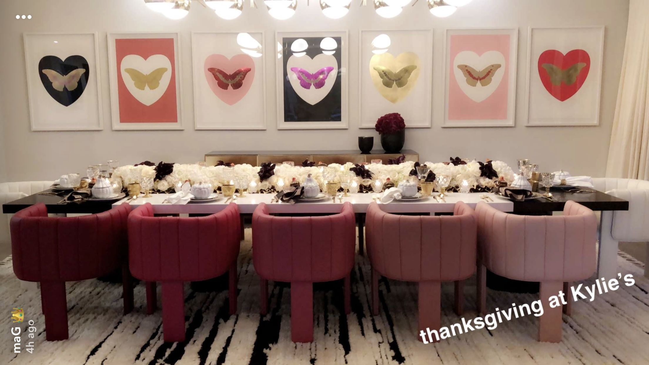 Ombre Dining Chairs For The Home Kylie Jenner House Kylie