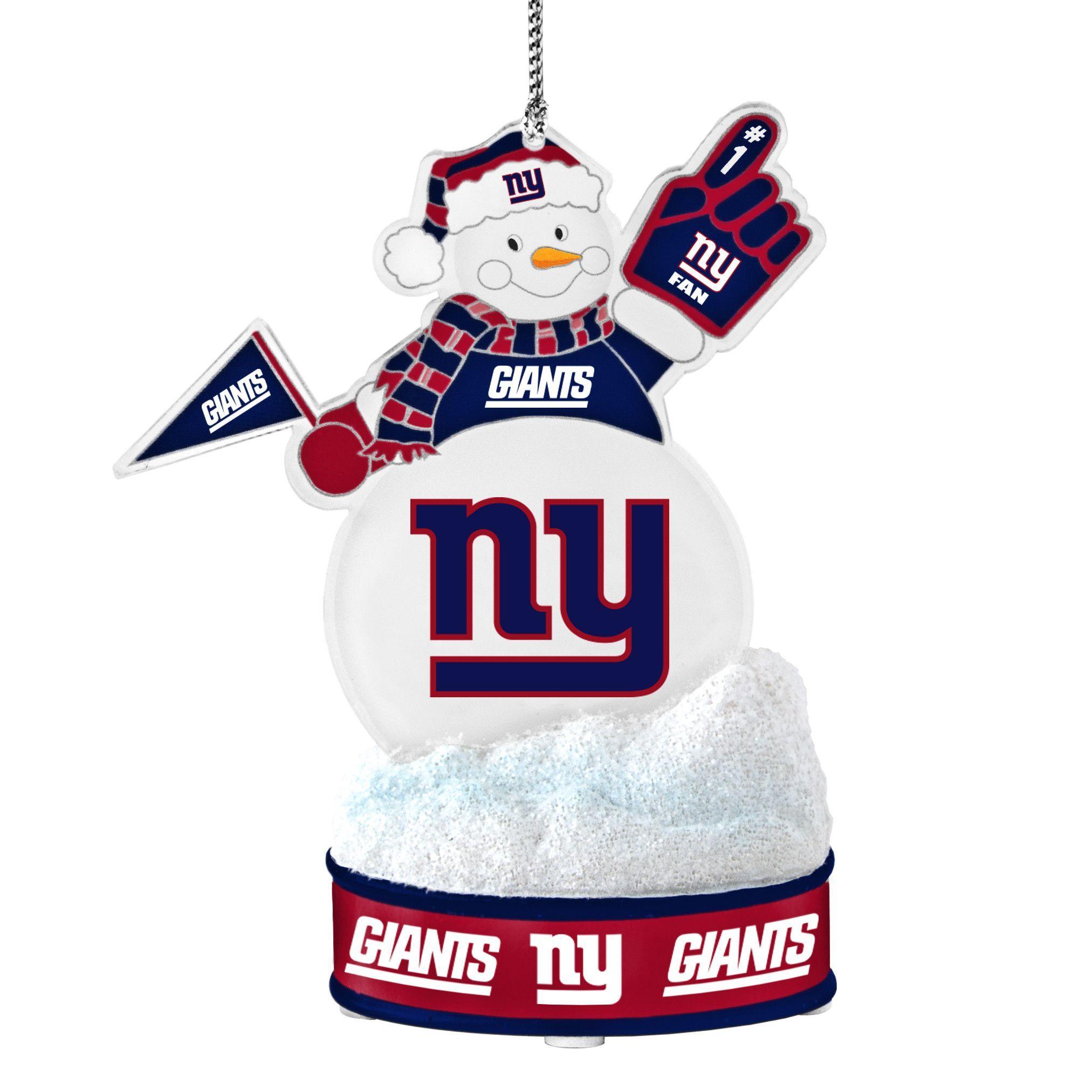 8fa82029d7f New York Giants Ornament - LED Snowman