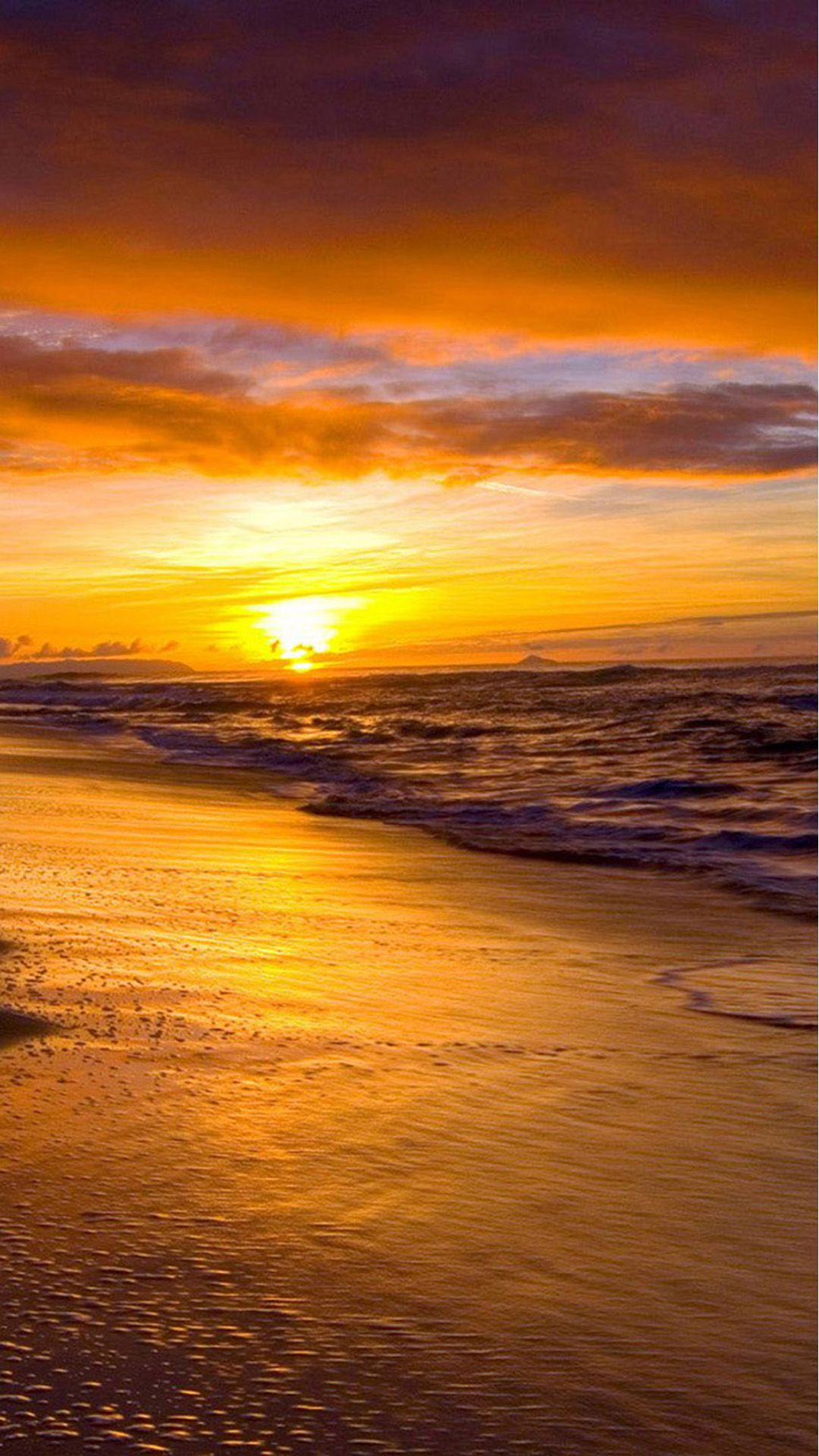 Nature Sunset Beach Skyscape iPhone 8 Wallpapers