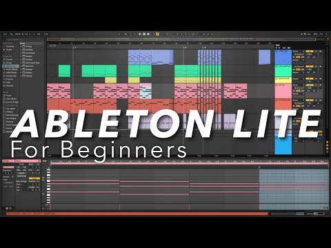 Ableton Live Lite For Beginners How To Make Music With Ableton Live 10 Lite Youtube Ableton Ableton Live Music Software