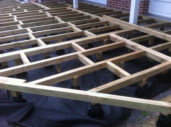 Terrasse en bois surélevée  étape 1 Home Garden Pinterest - terrasse bois sur plots reglables