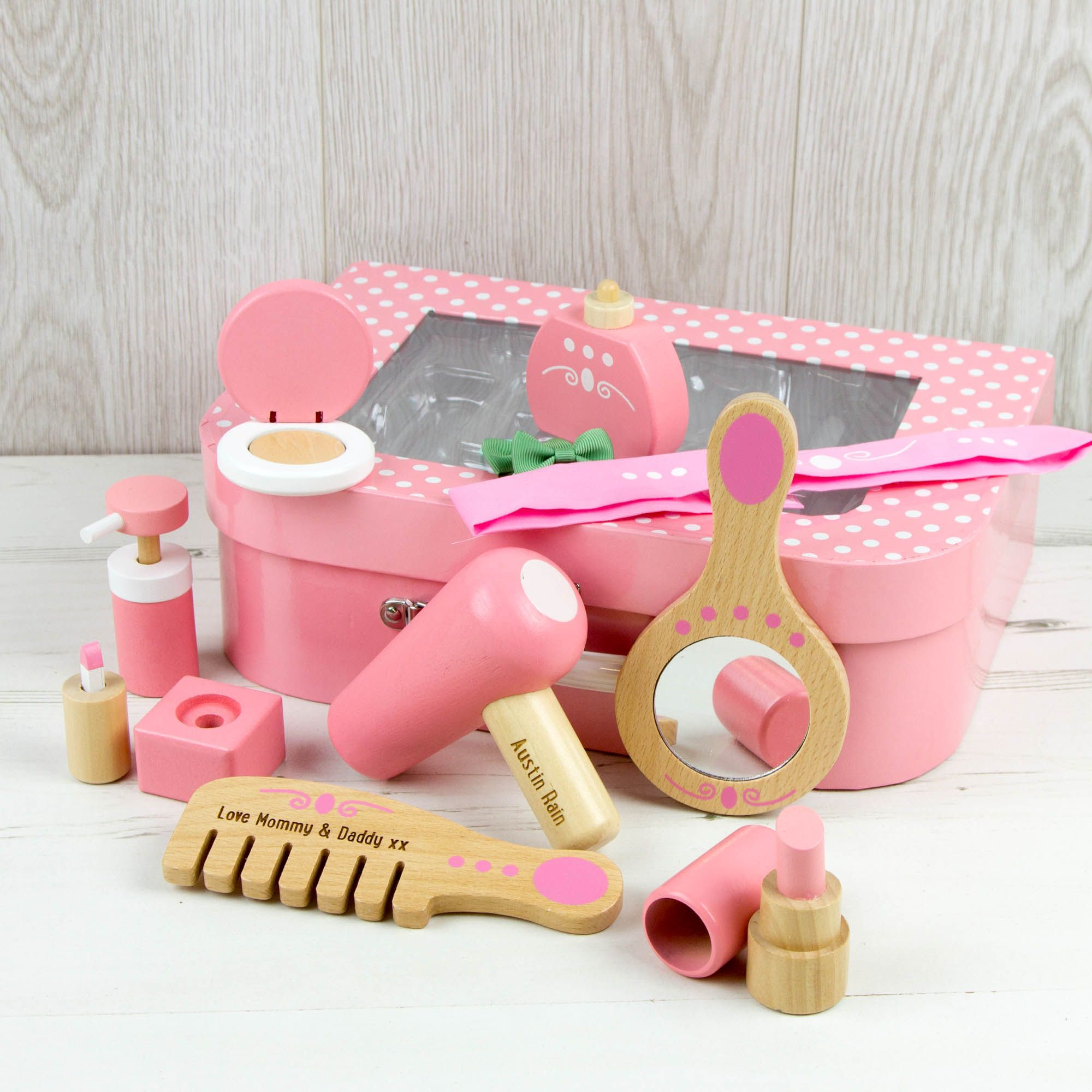 Vanity Set in a Case Toy Personalised (With images