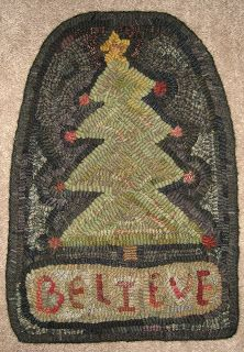 Primitive Junky Christmas Tree Rug Hooking Patterns
