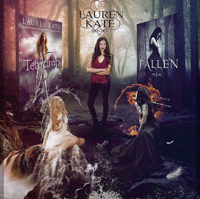 Teardrop And Fallen By Lauren Kate Fan Art With Images Fallen