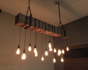 edison bulb lighting fixtures. Reclaimed Barn Beam Light Fixture. 6\u0027 Long By 7MWoodworking Edison Bulb Lighting Fixtures R