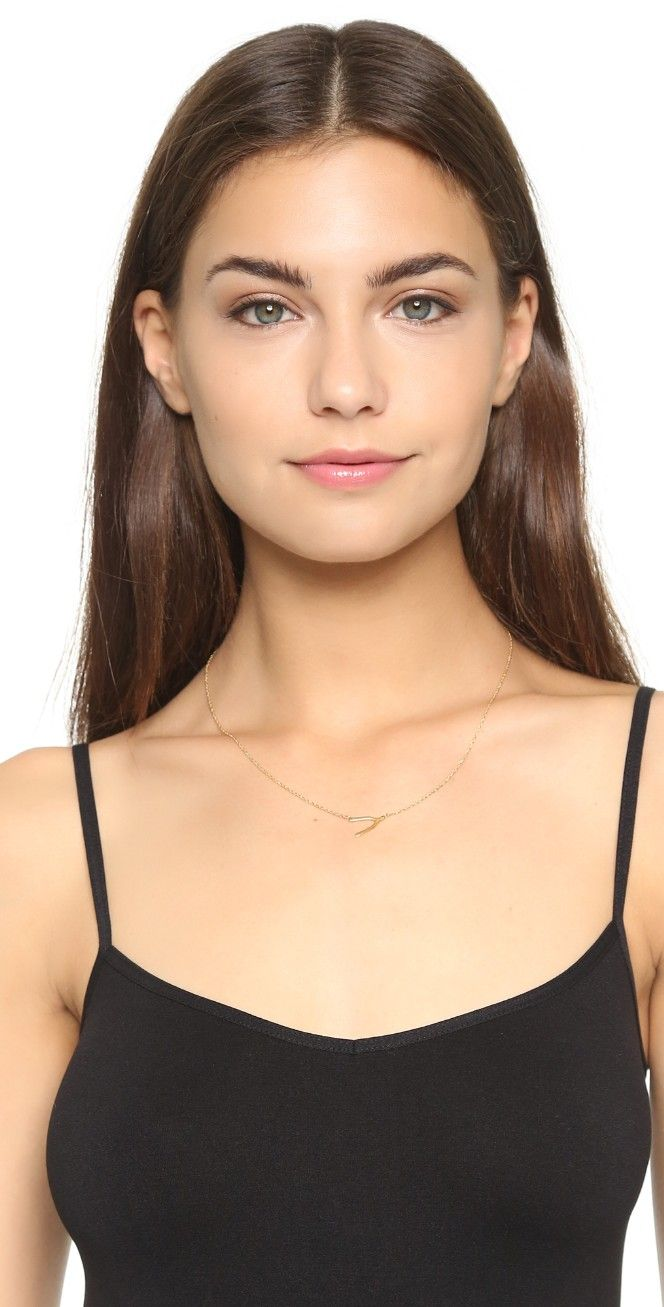 Jennifer Zeuner Mini Wishbone Necklace Ep2XswOYU