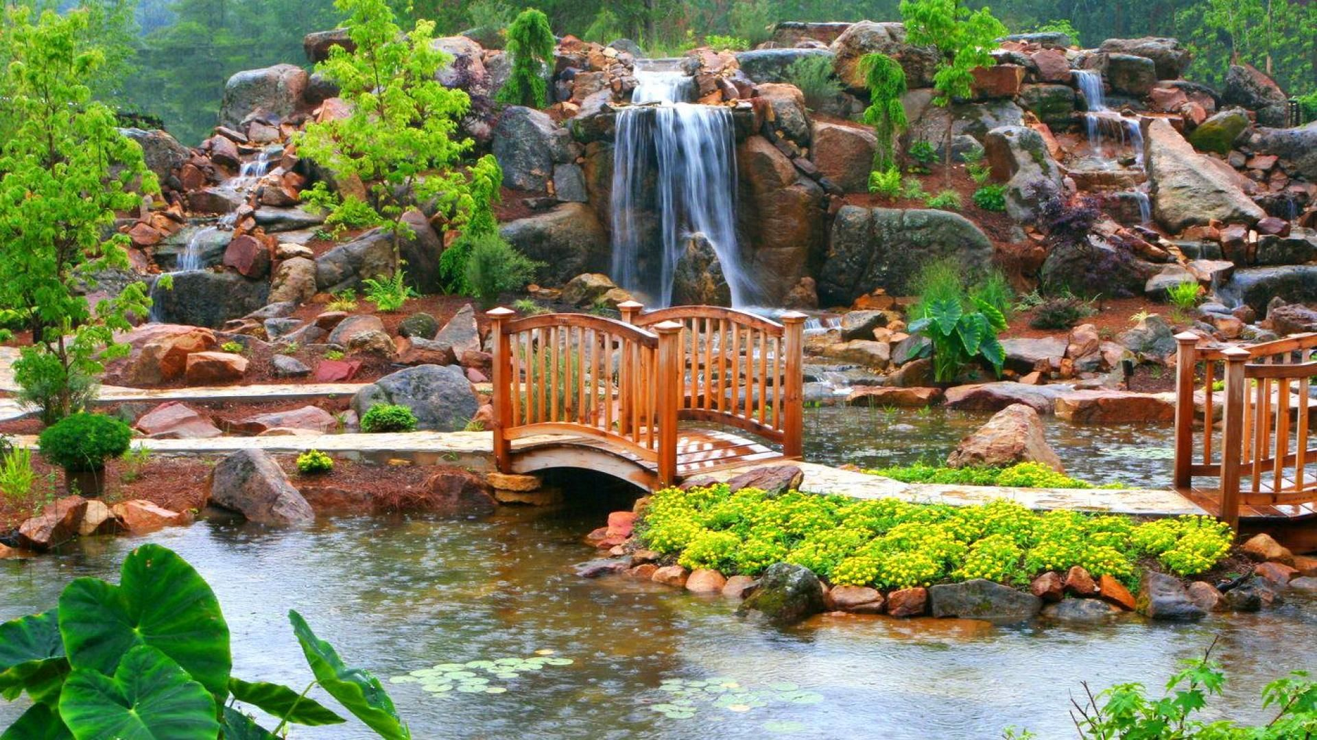 Beautiful Flower Gardens Waterfalls | Places to Visit ...