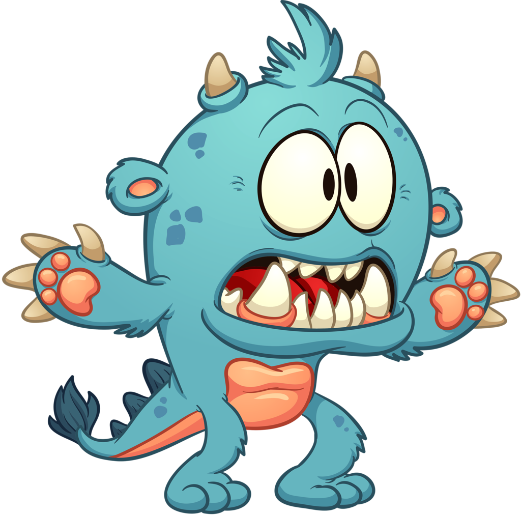 cartoon monster