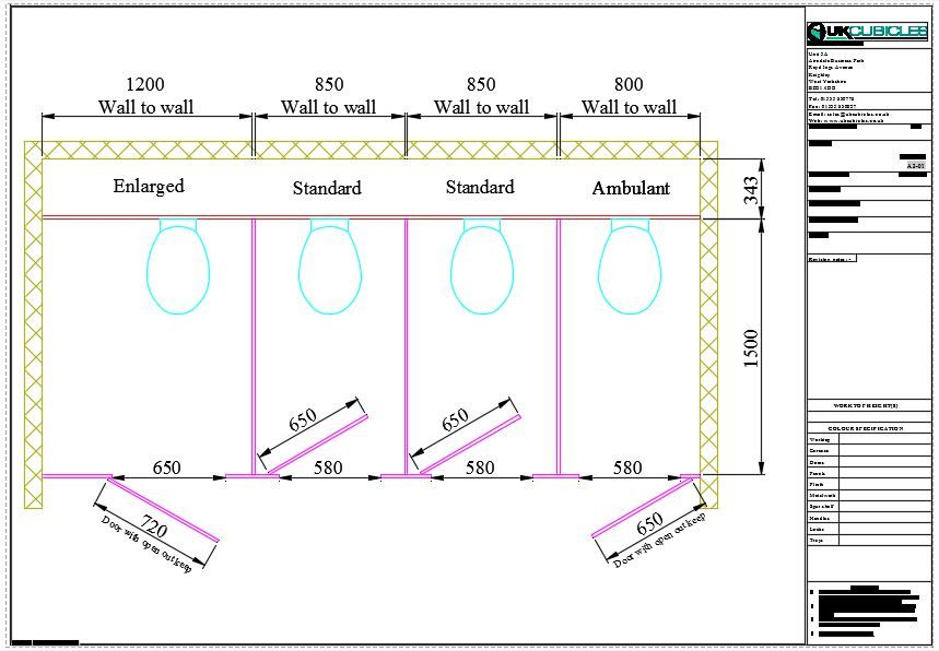 Toilet Cubicle Dimensions What Are Standard Cubicles