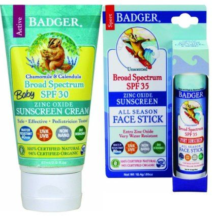 Badger Baby Sunscreen Spf 30 And Face Stick Baby Sunscreen Spf Sunscreen Sunscreen