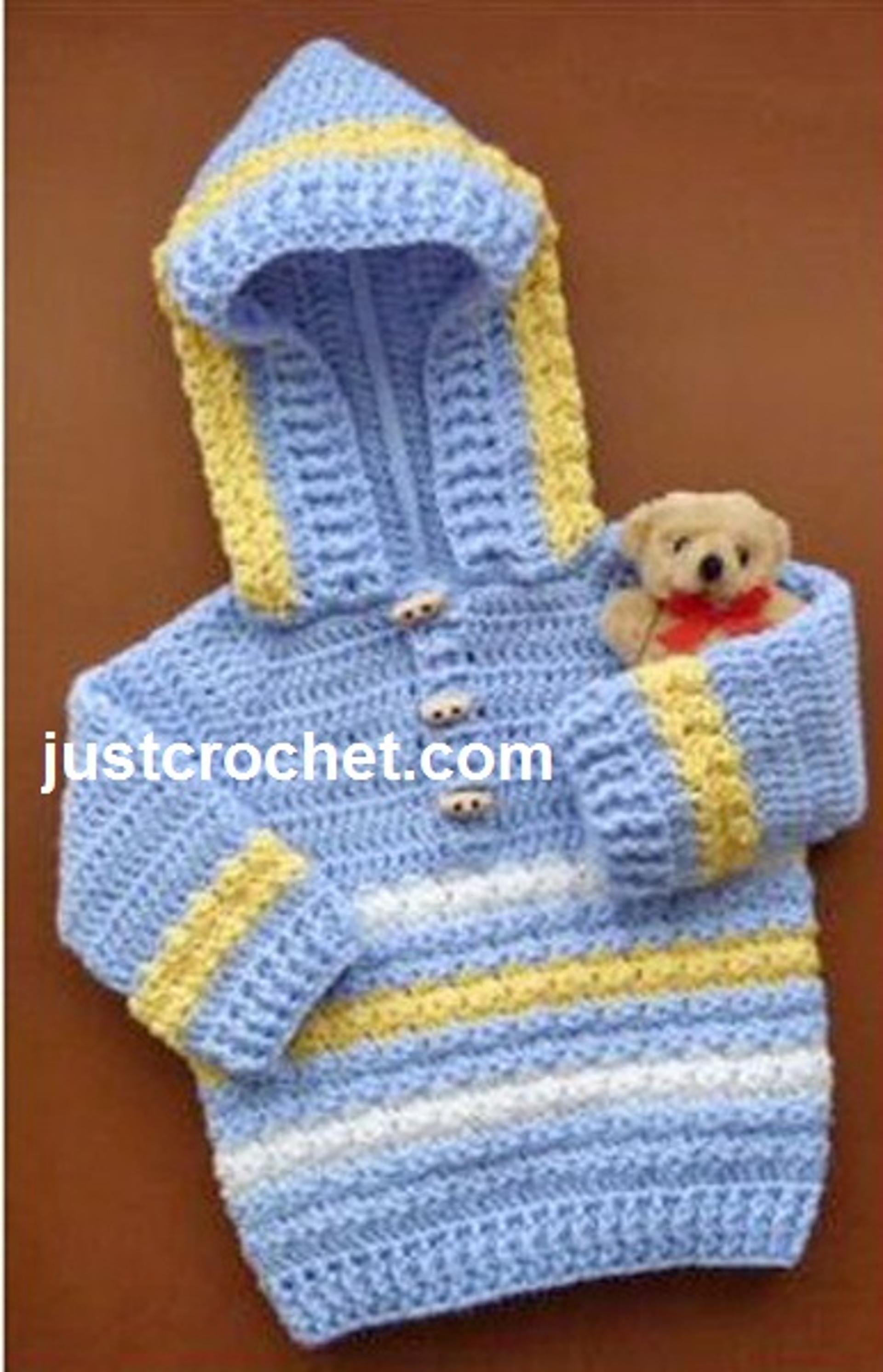 7bbfcd6105af fjc14-Hoodie Baby Crochet Pattern