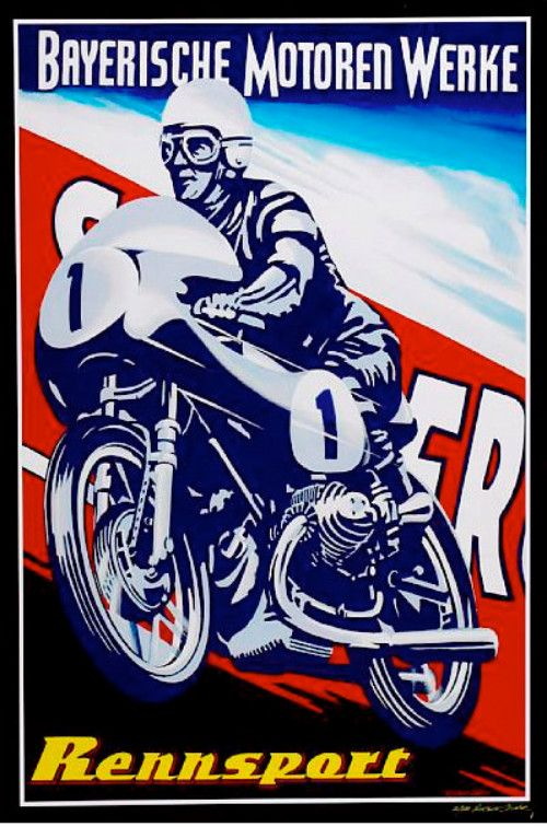 Retro Poster Vintage Racing Poster Vintage Motorcycle Posters Motorcycle Art