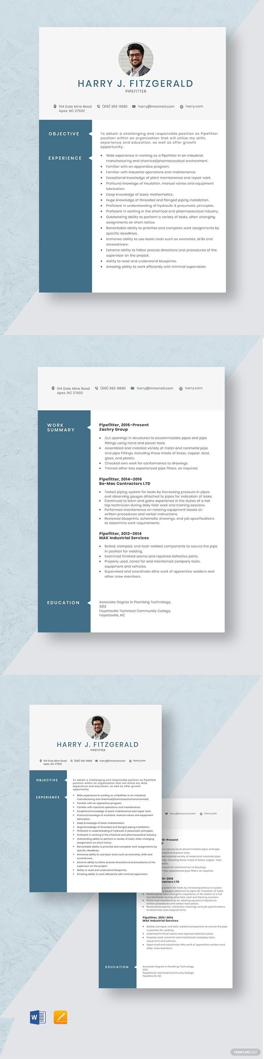 37+ Plumber pipefitter resume examples free inspirations