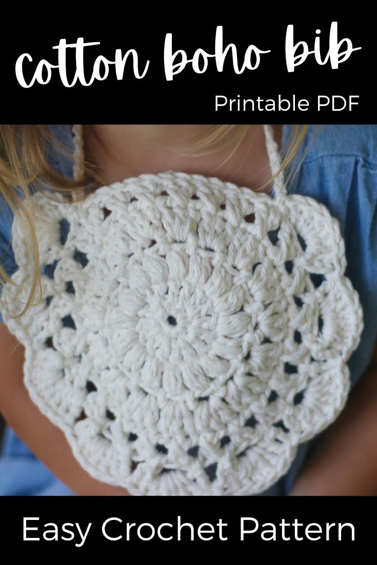 Cotton Baby Bib Pattern. Crochet Pattern, Knit Pattern ...