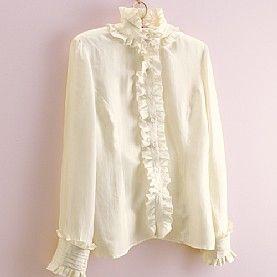 Frilled Silk Shirt
