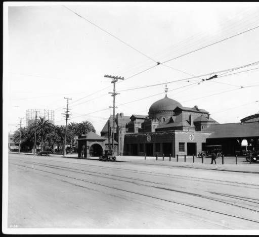 "Santa Fe Railway's ""La Grande"" station, Los Angeles, ca. 1911 :: California Historical Society Collection, 1860-1960"