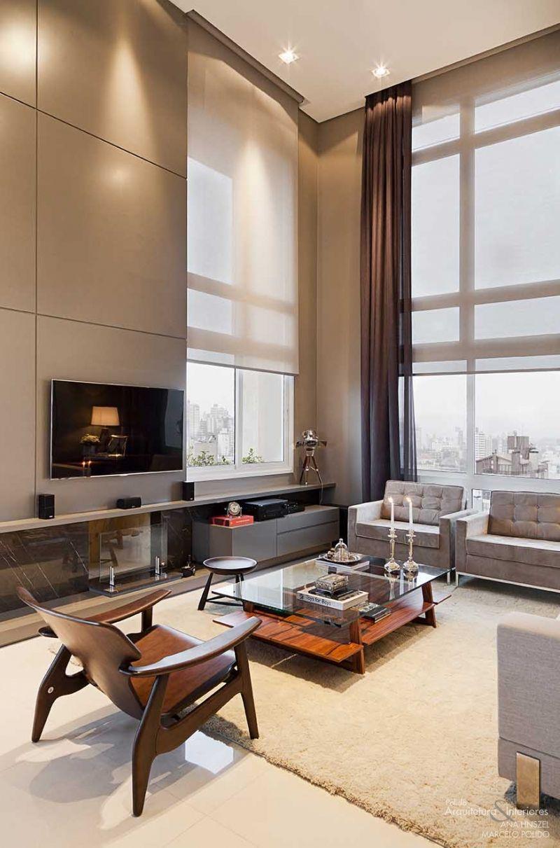 Rosamaria G Frangini Architecture Interior Design Homedetails  -> Gesso Sala Pe Direito Duplo