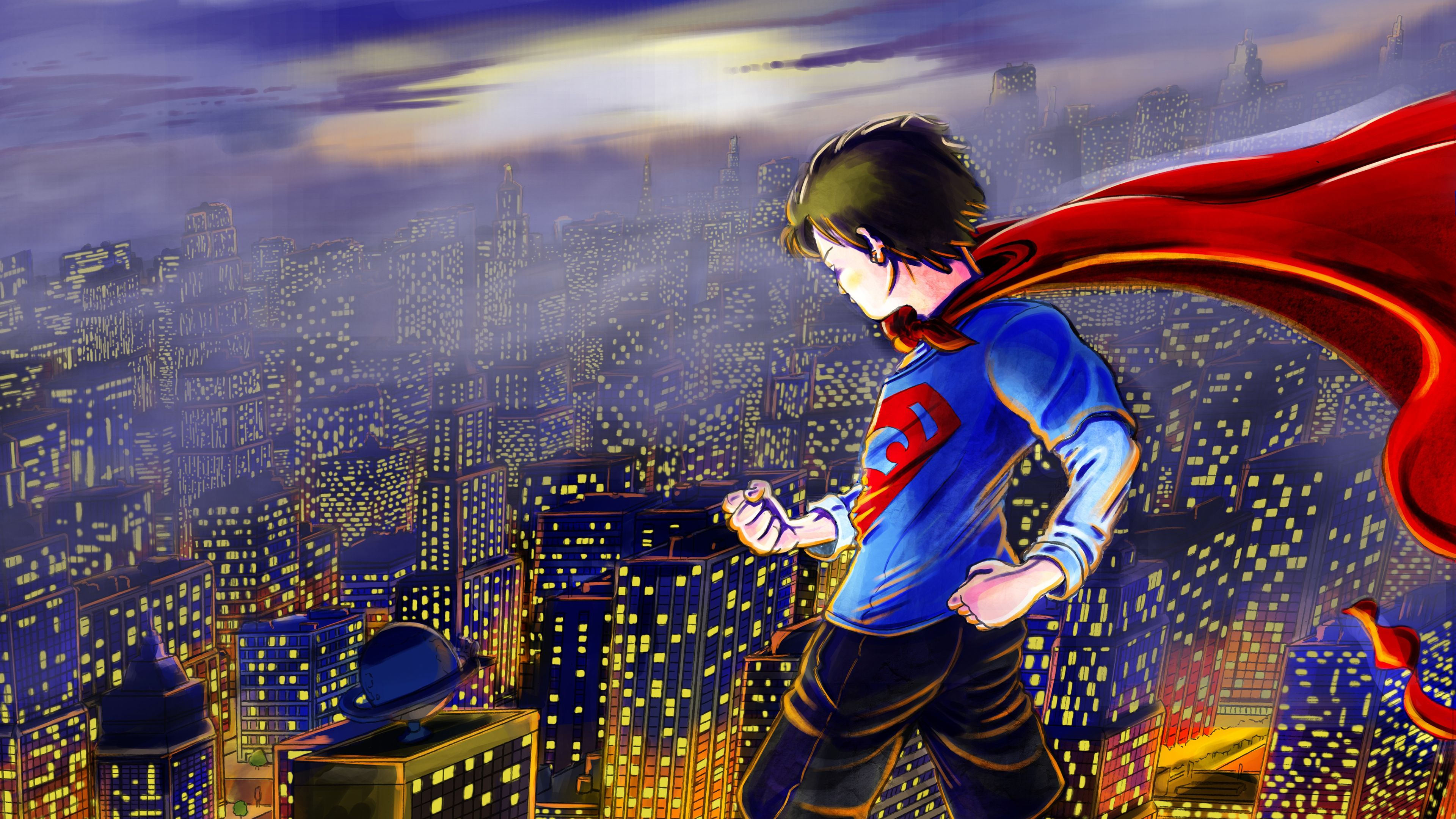Wallpaper 4k Kid Superman art 4k 4kwallpapers, artwork