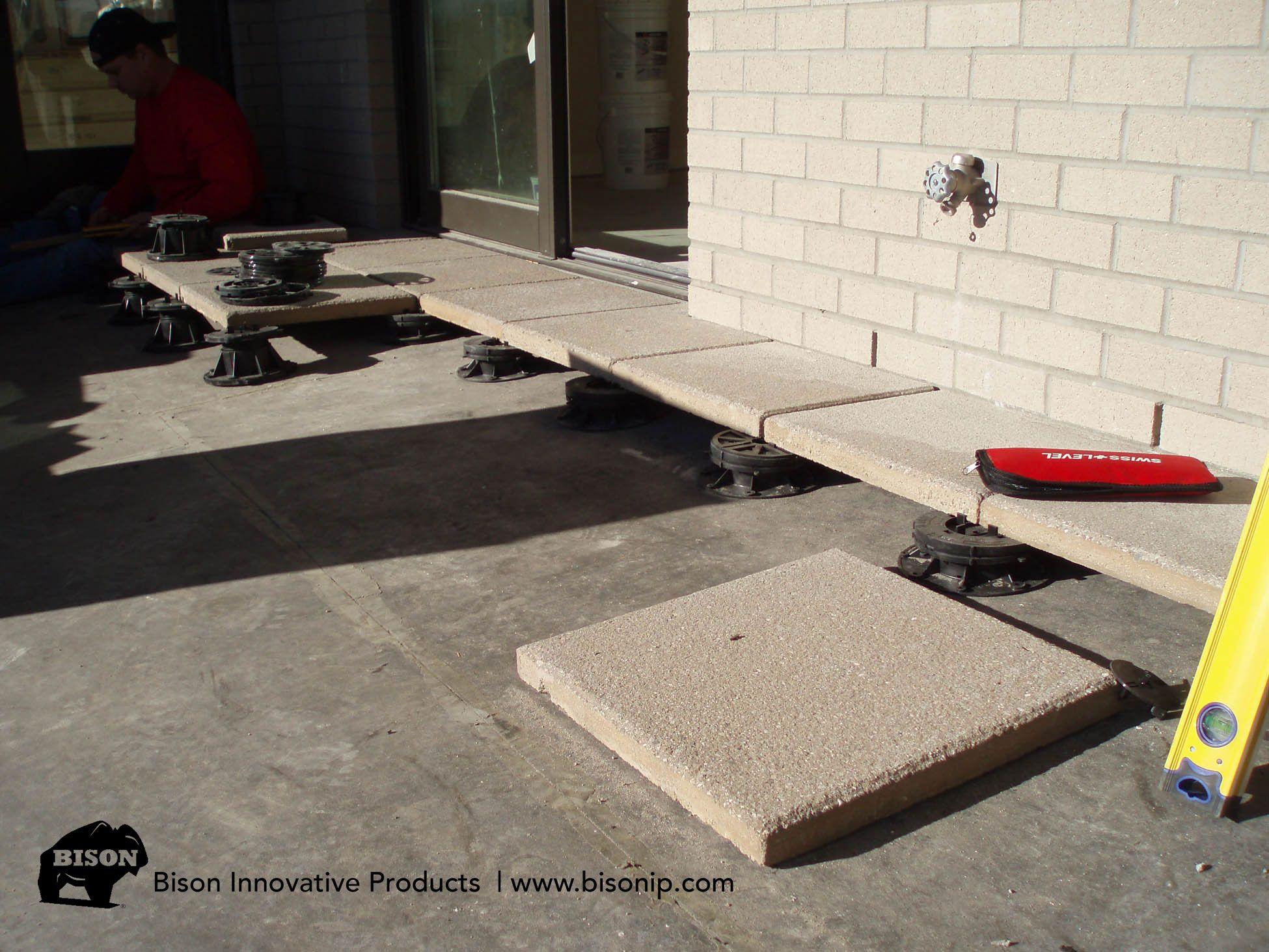 Bison Adjustable Deck Supports Pation Installion Using Concrete Paver Tiles Unique Outdoor Spaces Building A Deck Deck Supports