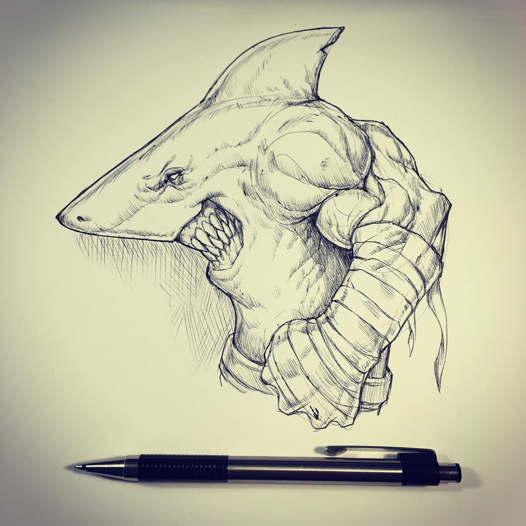 Street shark sketch   Or is it king shark ? Ive been mostly