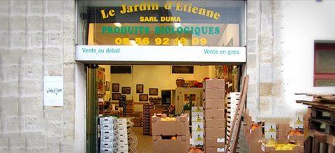 Magasin bio Bordeaux. Produits bio Gironde. Epicerie bio 33: Au Jardin d'Etienne