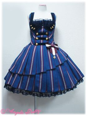Loyalty Regimen JSK, Royal Blue | #AngelicPretty #AP #JumperSkirt #Dress #Lolita
