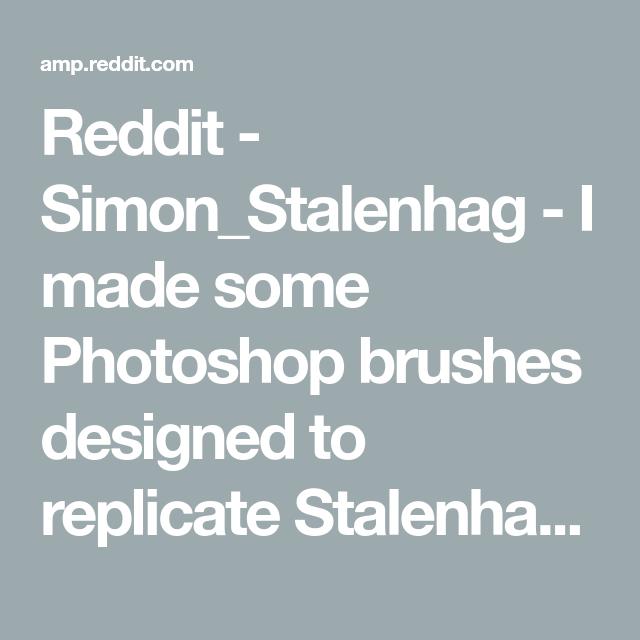 Reddit - Simon_Stalenhag - I made some Photoshop brushes