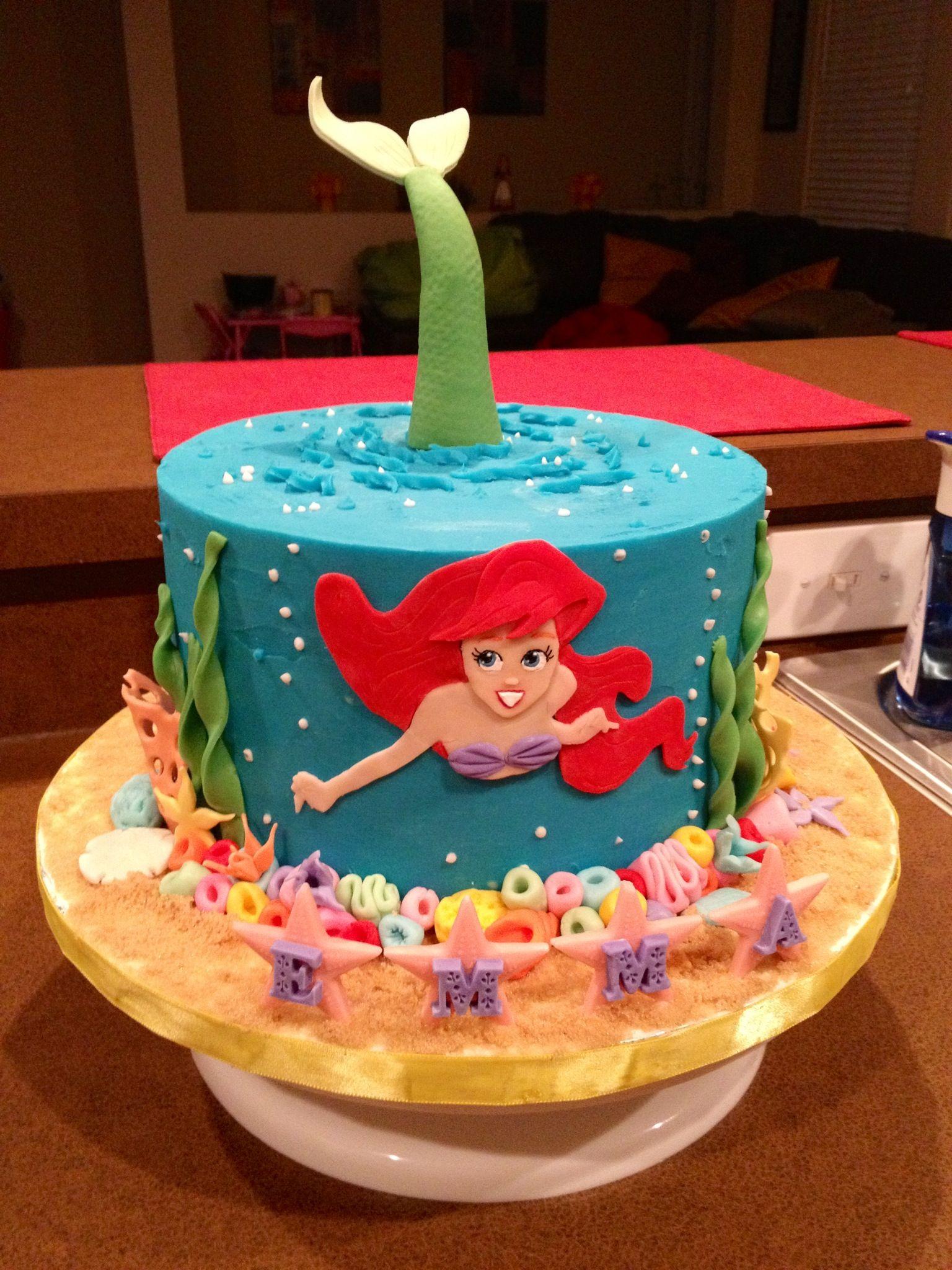 The Little Mermaid Ariel Mermaid Birthday Cakes Little Mermaid