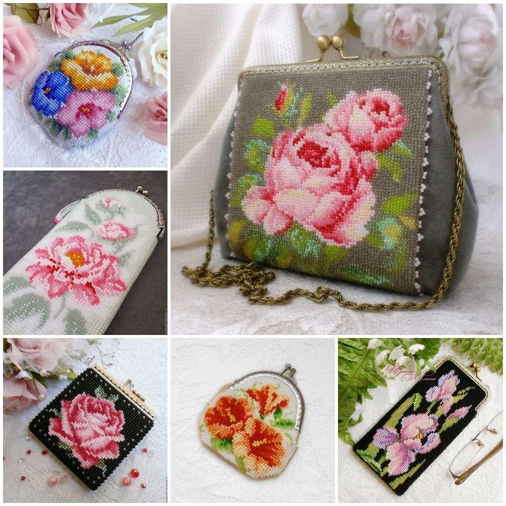 dd2359d21e0e Схемы кошельков и сумочек из бисера | Ladies handbags | Sculpture