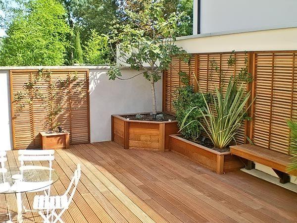 J 39 aime le bac d 39 angle et les claustras am nager une for Amenagement patio terrasse