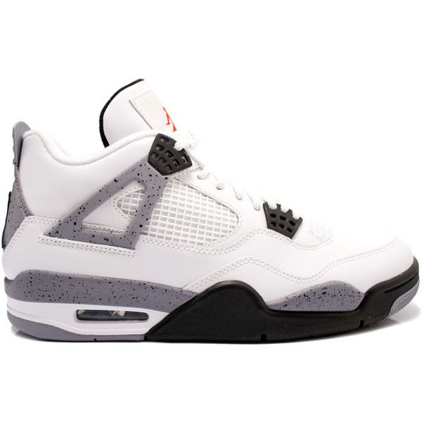 the latest 40b28 3088d ... switzerland air jordan iv 4 white cement 2012 liked on polyvore  featuring shoes 5b73b d8d9e