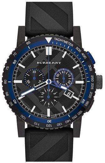 22ab1973aca Relógios masculinos · Burberry Chronograph Rubber Strap Watch