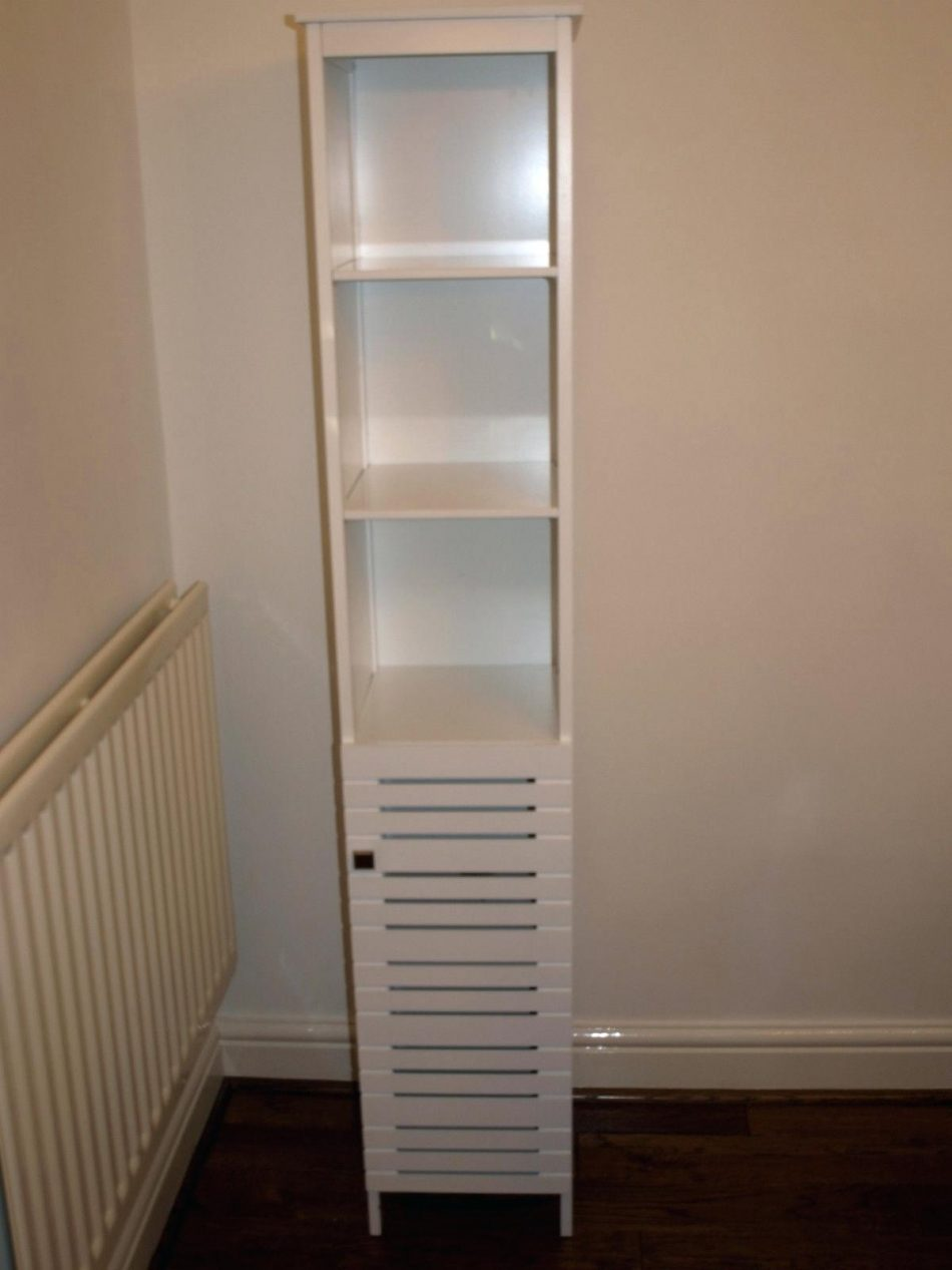 45++ White bathroom cabinet storage type
