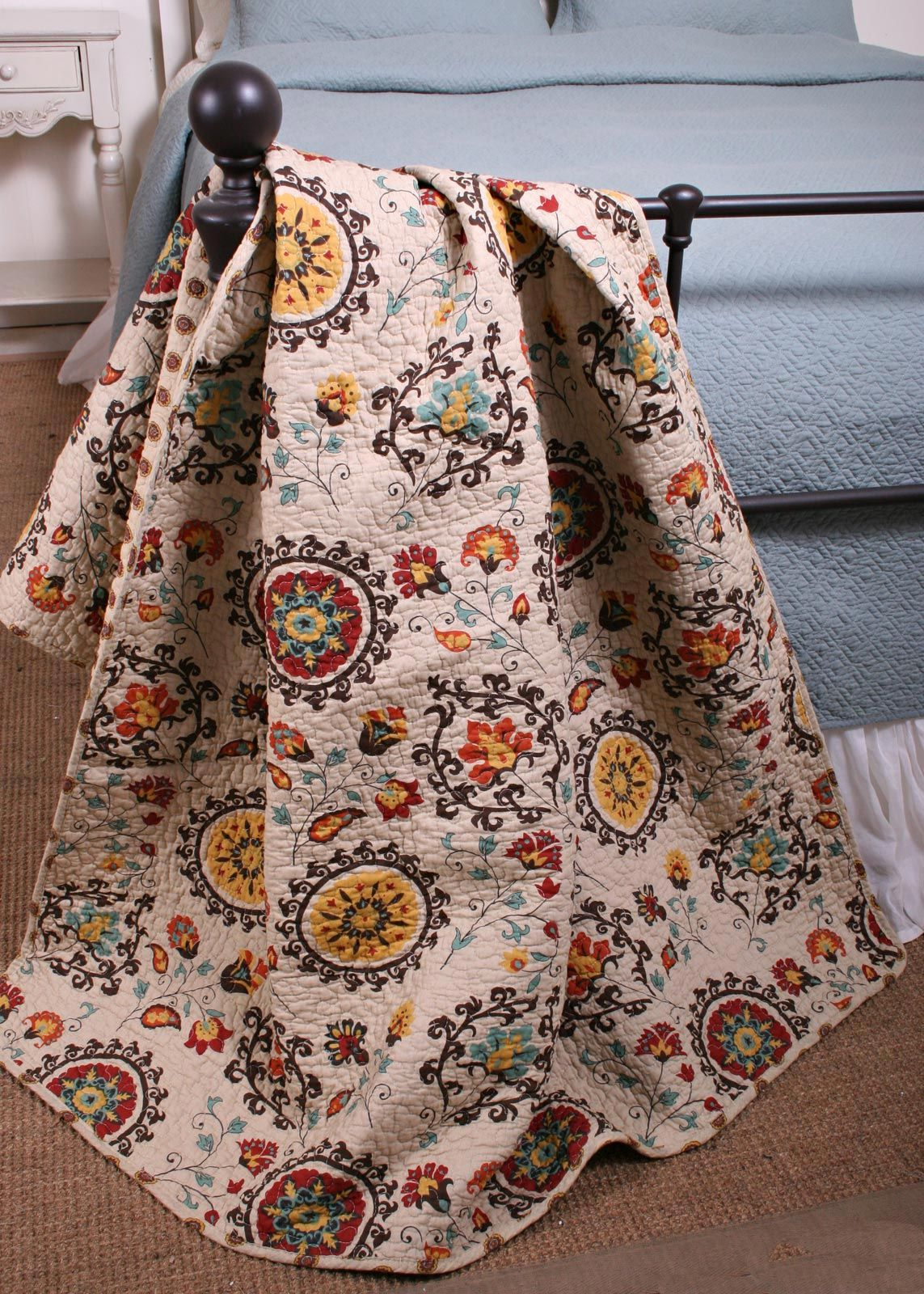 Boho Chic Collection Andora Quilt Throw | Bedroom decor ... : quilt throw - Adamdwight.com