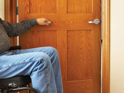 Universal Design Wider interior and exterior door sizes provide additional space for those who use & Universal Design: Wider interior and exterior door sizes provide ...