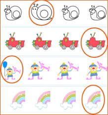 Image result for circle the odd one out   Preschool kids ...