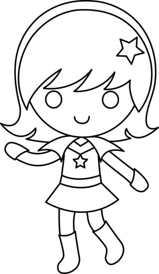 Super hero girl | Coloring pages & Basic patterns/templates for ...